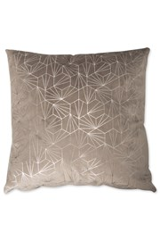Geo Metallic Print Cushion