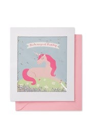 Unicorn Birthday Shimmy Shake Card