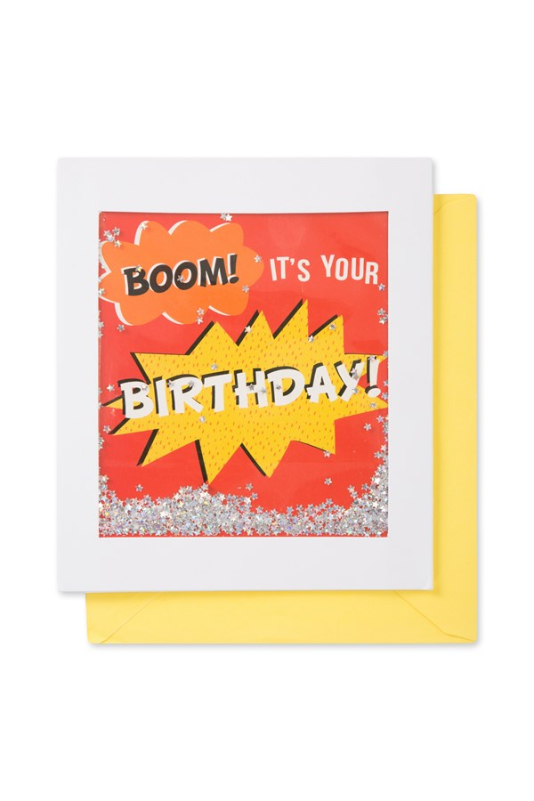 Boom Its Your Birthday Shimmy Shake Card
