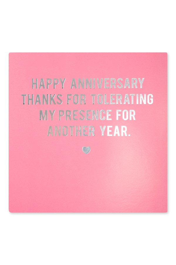 Anniversary Tolerating Card