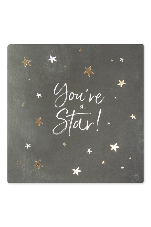 You're A Star Chalkboard Card