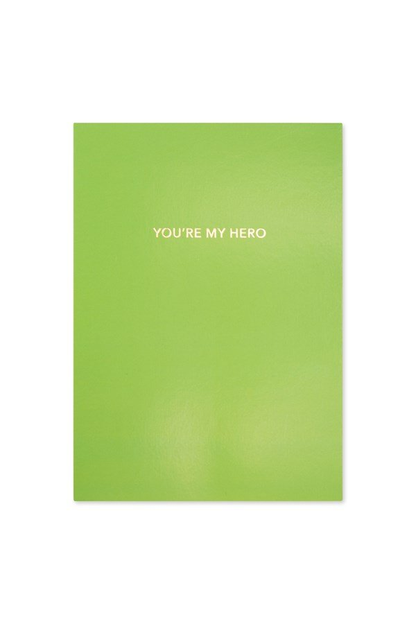 You're My Hero Neon Card