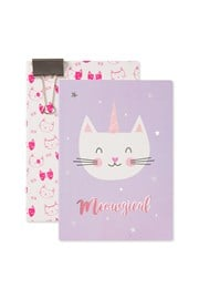Cat A5 Paperback Notebook - 2 Set