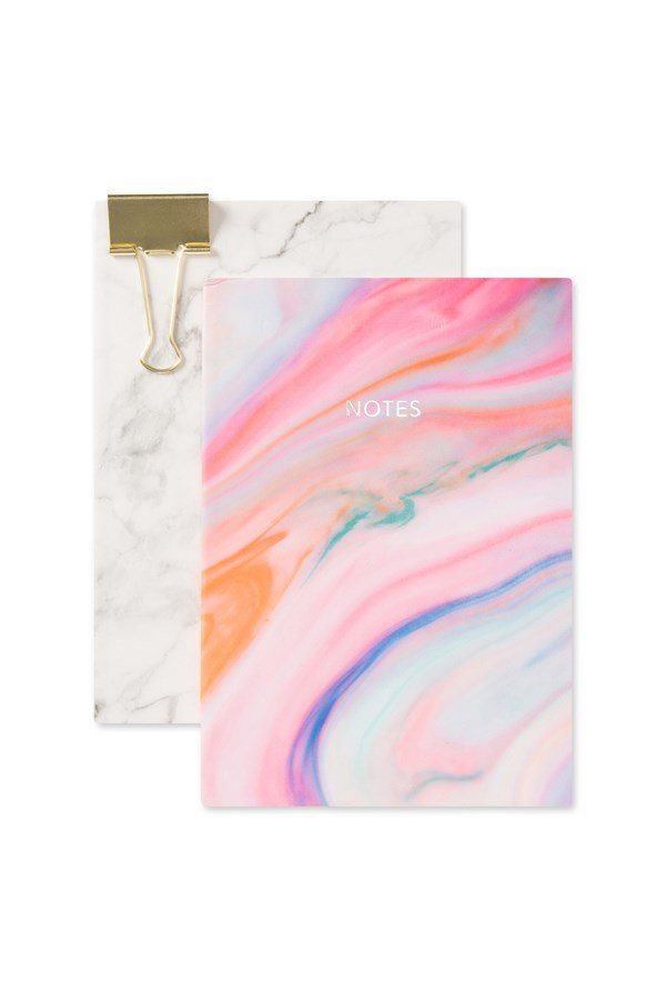 Marble A5 Paperback Notebook -2 Set