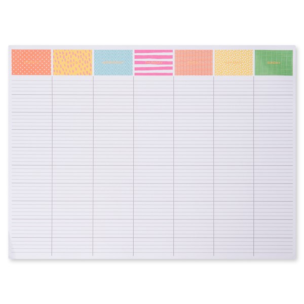 A3 Weekly Desk Pad