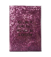 Glitter Unicorn A5 Plastic Notebook