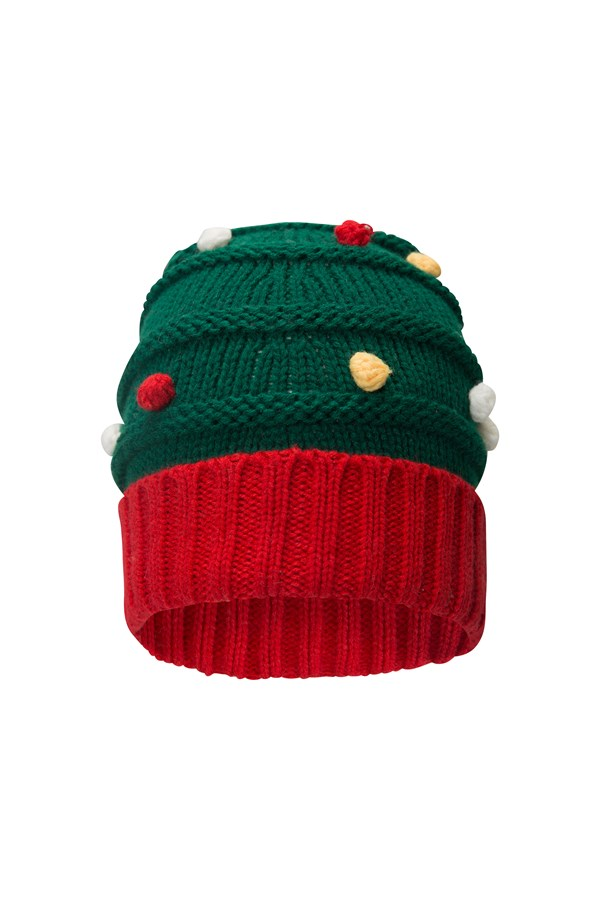 Christmas Tree Pom Beanie
