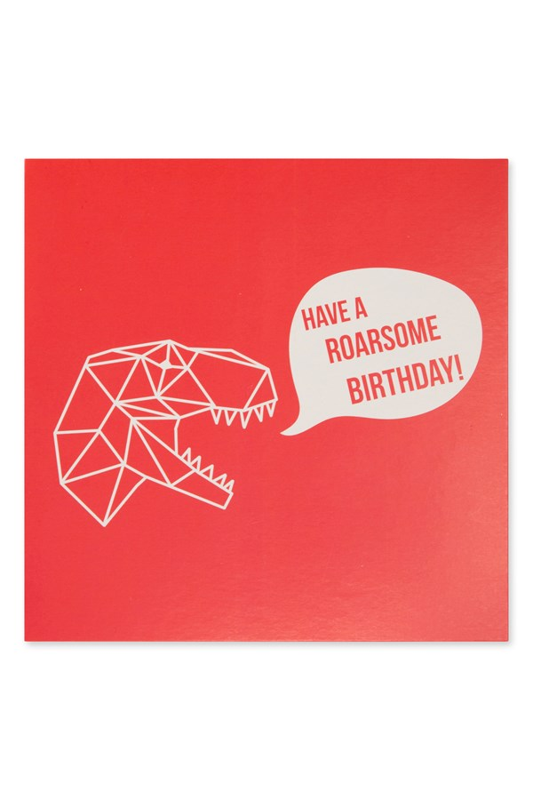 Rawrr Dinosaur Birthday Card