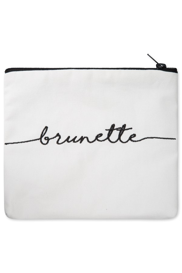 Brunette Canvas Make-Up Bag