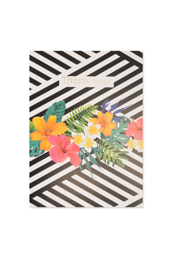 Geo Floral Thank You Card