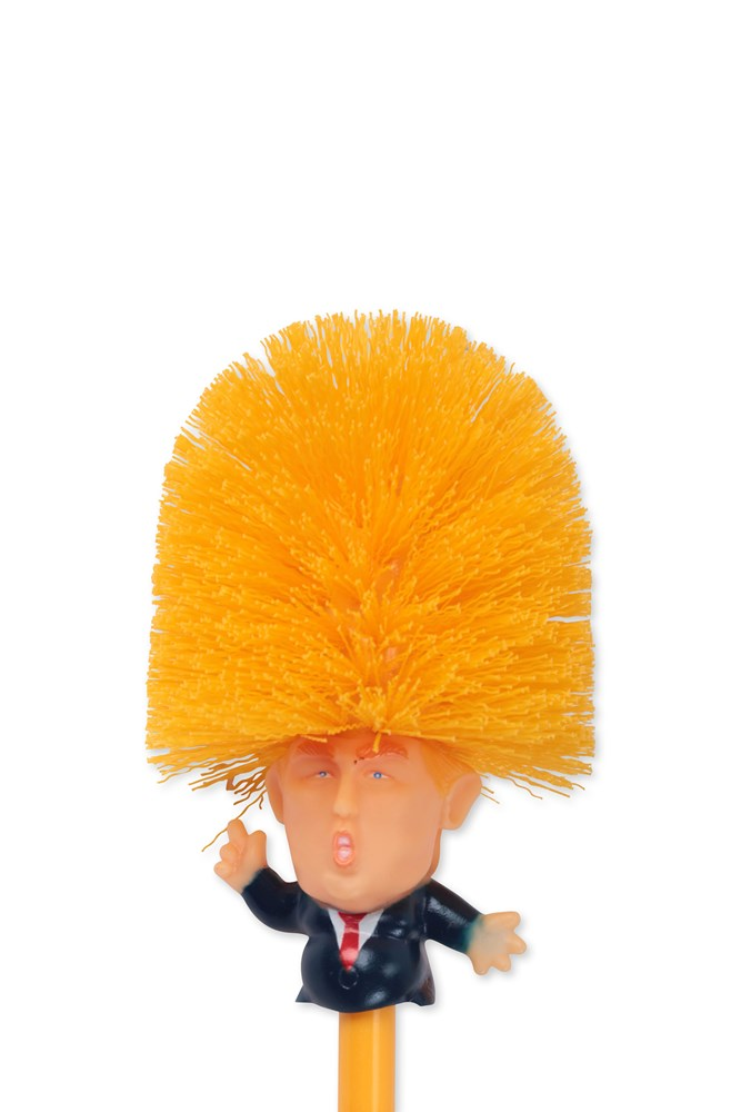 Trump Toilet Brush Neon Sheep Gb If i owned that, i would enjoy scrubbing the toilet much more! trump toilet brush